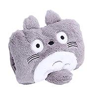 缘诺亿 毛绒插手热水袋充电暖宝双插手暖水袋防爆电热宝龙猫 (灰色)