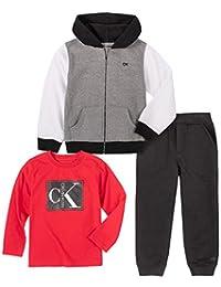Calvin Klein 男孩 3 件套慢跑裤