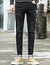 Hooper Homme 牛仔裤秋冬男士直筒宽松弹力青年男裤子商务休闲百搭长裤修身青年牛仔长裤