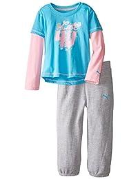 PUMA Little Girls' Twofer and Pant Set