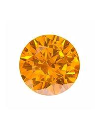 15mm 圆形金黄色锆石 - 1 件装