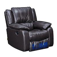 芝华仕 头等舱沙发功能沙发真皮单人沙发椅现代简约美式小户型沙发K970-1 深咖色(标价仅为商品价格,如需运送/安装,请咨询客服具体费用。咨询电话:400-688-9099 QQ:648538692/3478725759)(亚马逊自营商品, 由供应商配送)