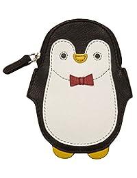 ILI #6492 皮革 RFID 屏蔽企鹅零钱钱包信用卡女士
