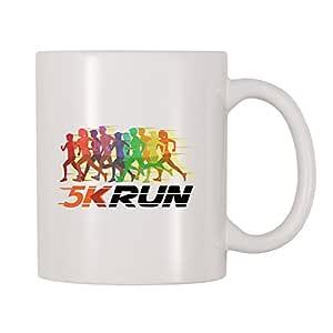 4 All Times 5K Run 咖啡杯 白色 11 oz Mug-761