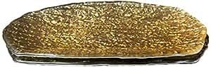 红石榴套装/2 个手工玻璃盘 琥珀色 均码 2848-1