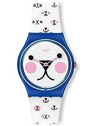 瑞士品牌 Swatch 斯沃琪 经典色彩密码系列石英中性手表 喵星人 GN241