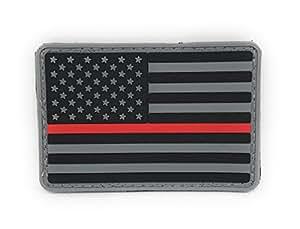 PakedDeals 美国战术国旗薄红线 PVC 士士士士钩环