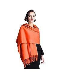 Cashmere 羊绒围巾 适用于女式和男式温暖柔软围巾包头披巾披肩礼品