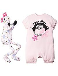【Amazon.co.jp限定】 海丽安田斯 春 樱花图案的紧身衣和褶皱人偶的特别套装(日本制造棉*) 粉色 M L