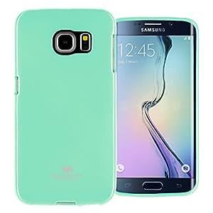 GOOSPERY Marlang Galaxy S6 Edge 手机壳,免费屏幕保护膜【贴合】TPU 手机壳【灵活】珍珠果冻【保护】三星 GalaxyS6Edge 手机壳 薄荷绿