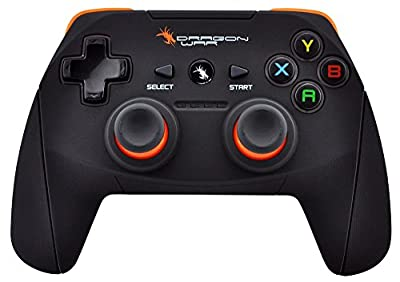 Dragon war Shock Unlimate Wireless Gamepads With Built in rechargeable battery and Plug and Play support for all PC games supports Windows 7 / 8 / 8.1 / 10