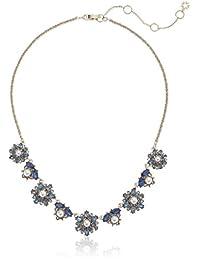 Marchesa 女式 40.64 cm 前部项链 蓝色 均码