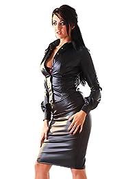 Honour 女式性感人造革铅笔裙