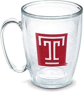 Tervis Temple University Emblem Individual Mug, 16 oz, Clear