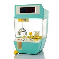 Alagoo 迷你爪机械,创意闹钟拱廊电子曲棍游戏,爪状抓握玩具球糖果烧烤机,带声音、硬币和豆的礼物 男孩女孩 绿色