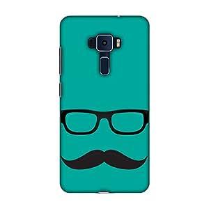 AMZER 设计师印花纤薄扣硬质手机壳带屏幕保护套件适用于华硕 Zenfone 3 ZE520KLAMZ601040110016 Mouch Nahi To Kuch Nahi