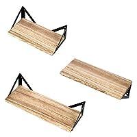 ALEKO 乡村风格木质三角形壁挂储物架 - 3 件套