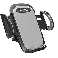 Beam Electronics 通用智能手机汽车通风孔安装支架支架适用于 iPhone X 8 Plus 7 7 Plus SE 6s 6 Plus 6 5s 5 4s 4 三星 Galaxy S6 S5 S4 LG Nexus 索尼 Nokia 等.