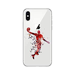 iPhone Xs Max 手机壳,Blingy 全新炫酷趣味图案柔软 TPU 保护套,适用于 iPhone Xs Max Basketball Dunk