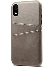 "iPhone XR 钱包手机壳超薄皮革卡夹减震后盖 iPhone XR 6.1"""