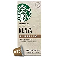 Starbucks 肯尼亚胶囊咖啡 兼容Nespresso咖啡机 (12盒,共120 粒胶囊)