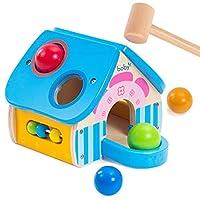 锤击打玩具木制教育玩具,敲击和敲击房间幼儿玩具 送给 1 岁女孩男孩的礼物