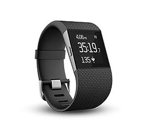 Fitbit Surge 智能乐活手环 GPS全球定位 心率实时检测 手机音乐操控 智能手表全能王 黑色 L FB501BKL-CN