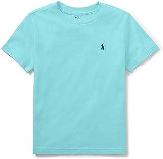 RALPH LAUREN 小男孩 Polo 圓領 T 恤純色