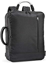 Fit & Fresh 笔记本电脑背包,转换为公文包,带衬垫的笔记本电脑套,拉链储物袋,通用尺寸,适合大多数 15.6 英寸笔记本电脑,适合工作、大学、男士、女