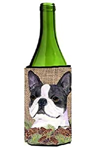 Boston Terrier on Faux Burlap with Pine Cones Michelob Ultra Koozies for slim cans SS4105MUK 多色 750 ml