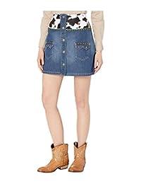 Hudson Jeans 女士 Hana 迷你机车牛仔短裤
