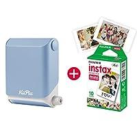 KiiPix 照片打印机 智能 兼容即时照片打印机 带富士胶片 Instax Mini Starterpapapapapapazeruid图像E72870