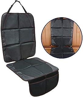 可调节汽车*座椅保护罩 - *舒适,超大,9 层厚垫 - 600D 耐用防水 PVC 皮革 - 加强边缘和 2 个网格存储袋