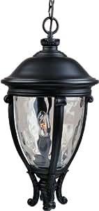 Maxim Lighting 三灯水玻璃吊灯 黑色 41429WGBK