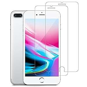 iPhone 屏幕保护膜, [ anti-scratches ] [ anti-fingerprint ] 高清钢化玻璃屏幕保护膜适用于 Apple iphone X/8PLUS/7Plus 6/6plus/8/7/6 930