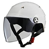 LEAD领先工业 摩托车头盔 露脸式 SERIO RE40带防护帽半盔 均码(57~60cm以下)RE-40 F 白色 RE-40