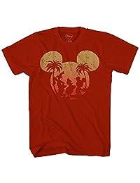 Disney 米老鼠唐纳德·鸭精灵日落 Disneyland 世界趣味男士成人图案 T 恤