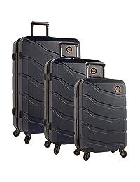 Timberland 3 Piece Hardside Spinner Luggage Set, Dark Sapphire