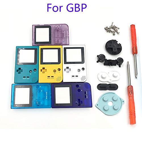 游戏男孩口袋游戏男孩口袋游戏机壳替换装外壳 GBP 外壳带按钮套件