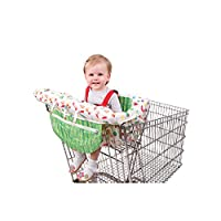 Usning 可爱毛毛虫便携式购物车套婴儿推车套,Infantino 紧凑二合一购物车套,中性高脚椅套,适合男孩或女孩