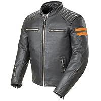 Joe Rocket 經典 '92 男式皮質上摩托夾克 - 黑色/橙色 中 黑色 1326-2503-SU