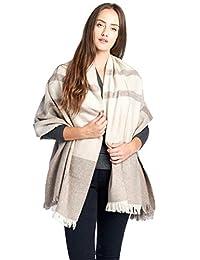 高风格100% 羔羊毛羊毛女式超大大羊绒围巾披肩披肩各种颜色和款式