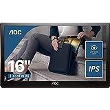 AOC I1659FWUX 16 英寸 1920 x 1080 40.6 厘米 IPS/WLED 便携式显示器 - 黑色