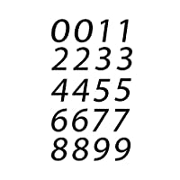 0-9 数字乙烯基贴纸贴花套装 20 种可选尺寸 2.54 厘米床单邮箱地址房子窗墙 | 黑色