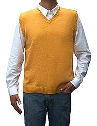 TINKUY PERU - 秘鲁羊驼毛 - 男士马甲基本款 V 领毛衣套衫