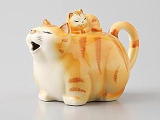Ale-net 猫 茶壶 濑户烧 黄虎 -