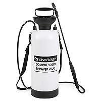 GROWNEER 便携式泵压喷雾器,带压力释放阀和可调节肩带,适用于草坪、庭院、花园、温室(白色) 2 gallon PSprayer-W-8L