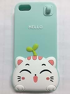 可爱 3D 卡通可爱动物设计软硅胶后盖适用于 iPhone 5 5G 5S SECGIE-1P greeting cat