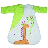 英国Purflo 旅行款睡袋,厚度1.0T适用于室温21-23度,适合0~3个月身高60公分的宝宝 绿色/白色