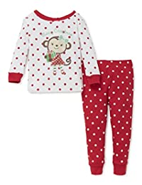 Little Me Holiday 2 Piece Pajama, 3t (Happy Monkey)